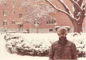 1988: Norman at Harvard University for his Nieman Fellowship.