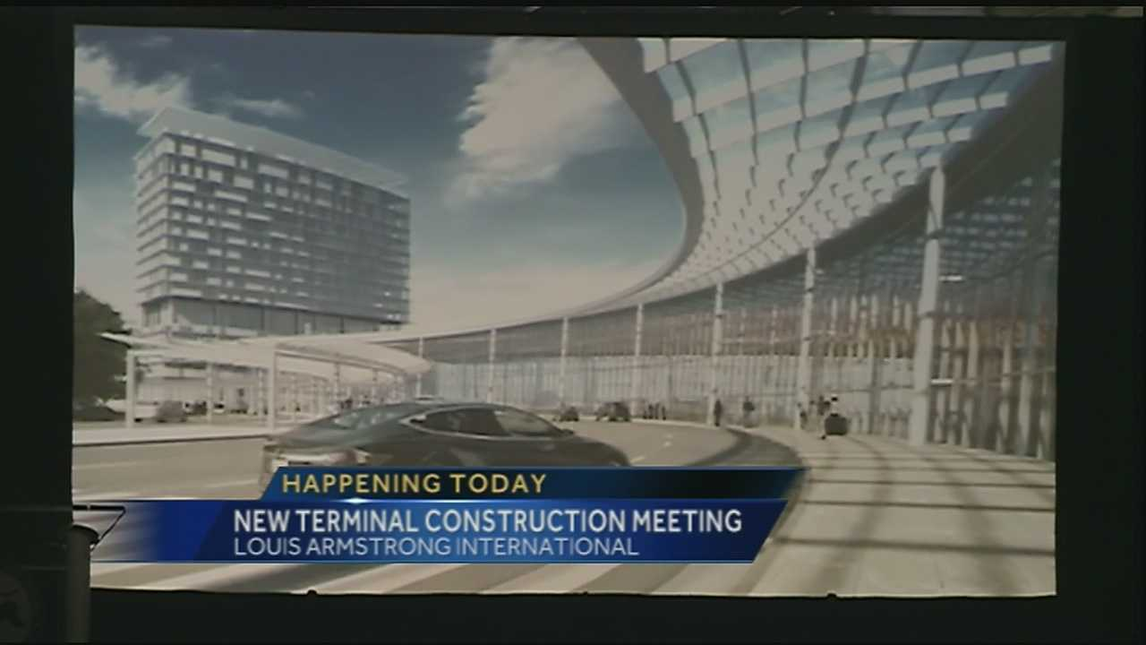 Officials meeting about airport terminal construction