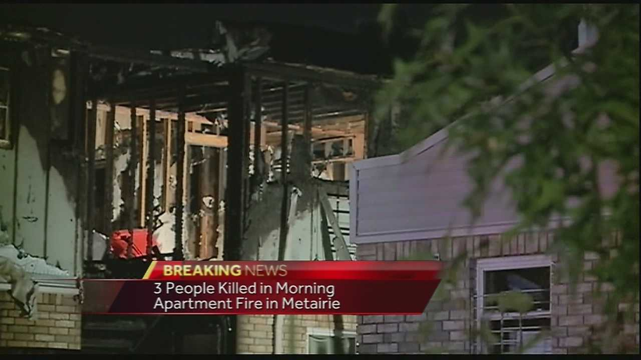 3 people killed in Metairie apartment fire