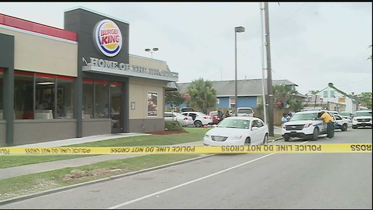 Several injured in morning shooting outside fast food restaurant