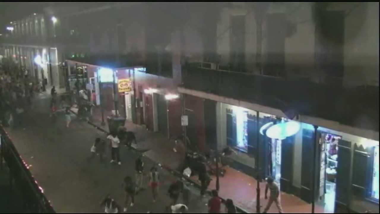 Surveillance video show chaotic moments during shooting on Bourbon Street