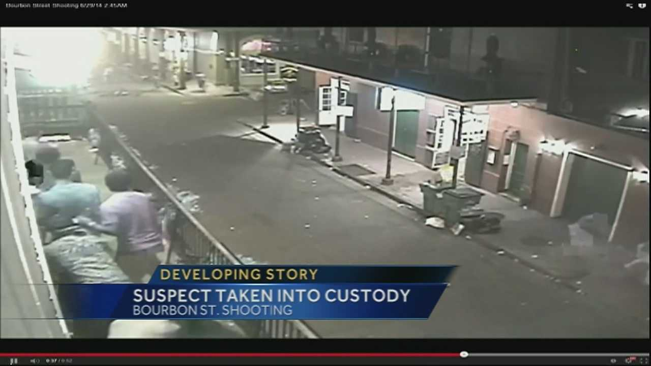 Suspect arrested in Bourbon St. shooting