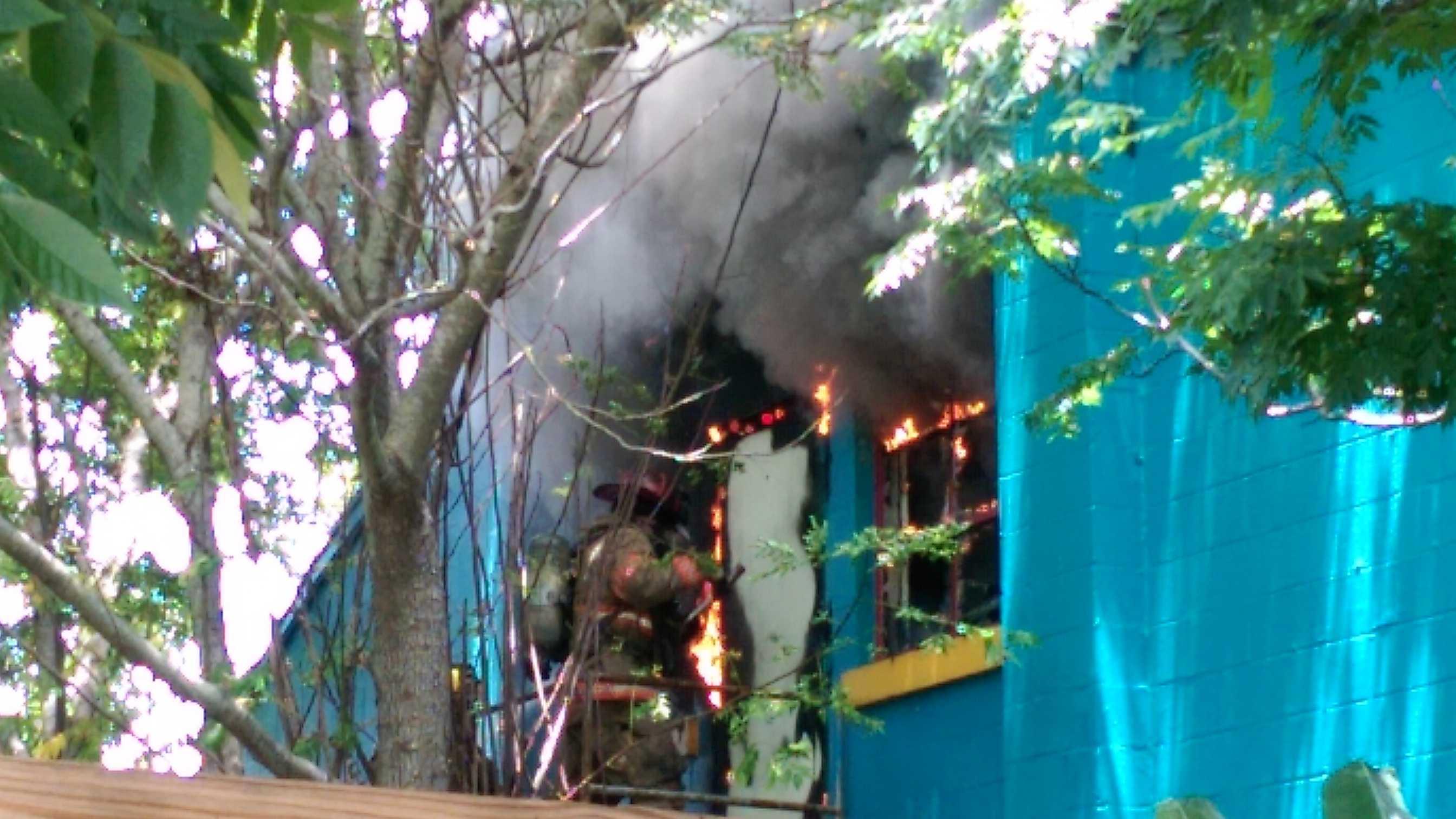 NOFD battles two-alarm fire