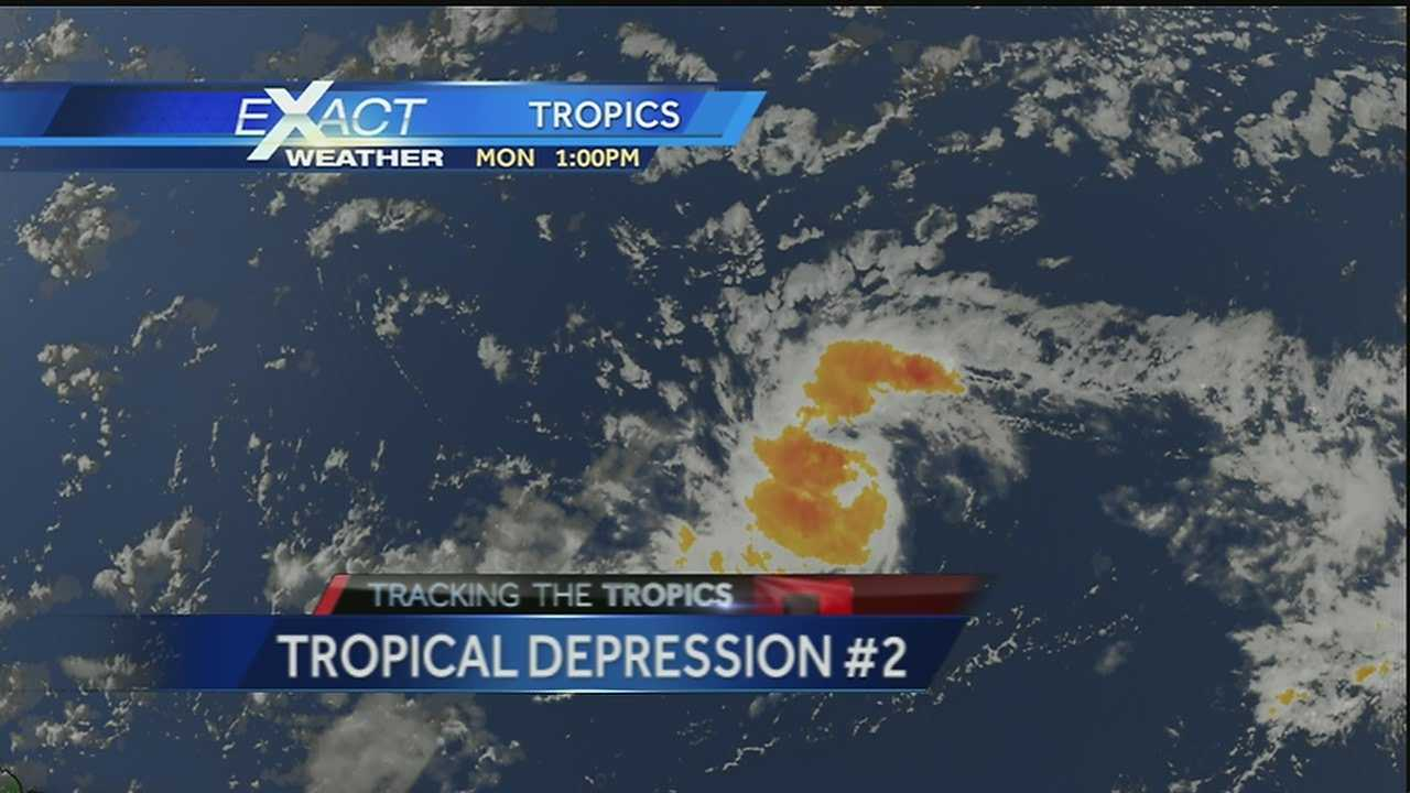 Tropical depression 2 forms in central Atlantic