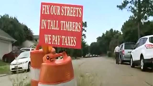 Tall Timbers subdivision joins the 'fix my street' fight