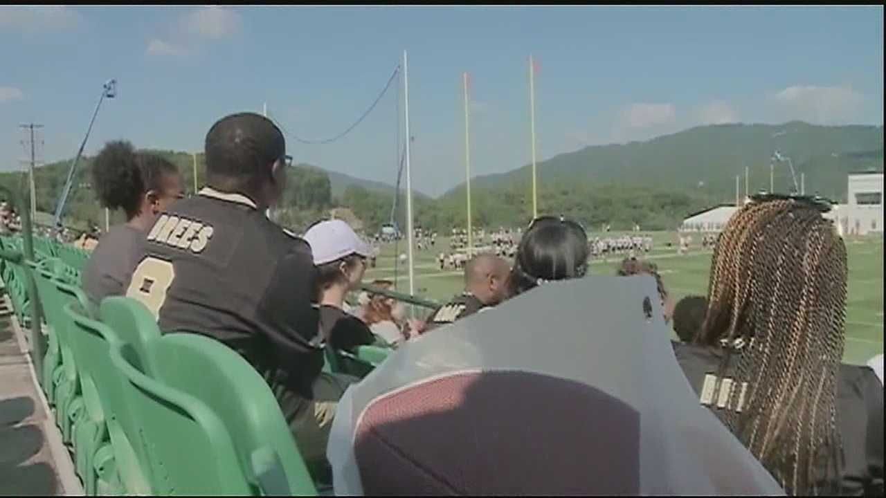'Network' of Saints fans get to enjoy up close view of team