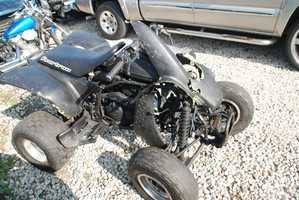New Orleans police are looking for the driver of this ATV, which was involved in a hit-and-run in Treme.