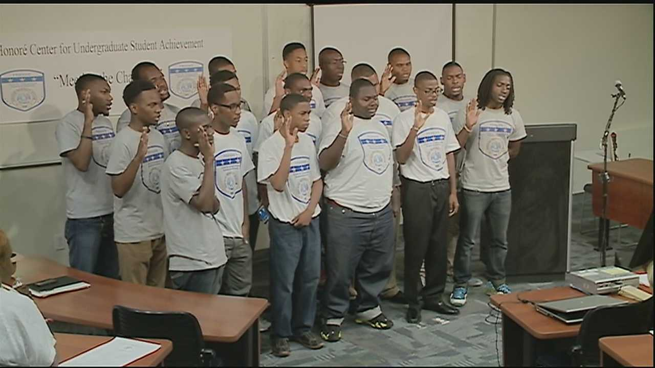 Young men welcomed to the Honore' Center for Undergraduate Achievement