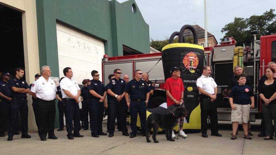 Firefighters kickoff annual Fill the Boot campaign