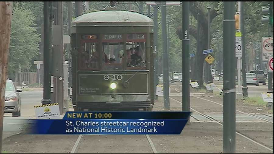 new orleans streetcar line given special recognition by department of interior. Black Bedroom Furniture Sets. Home Design Ideas