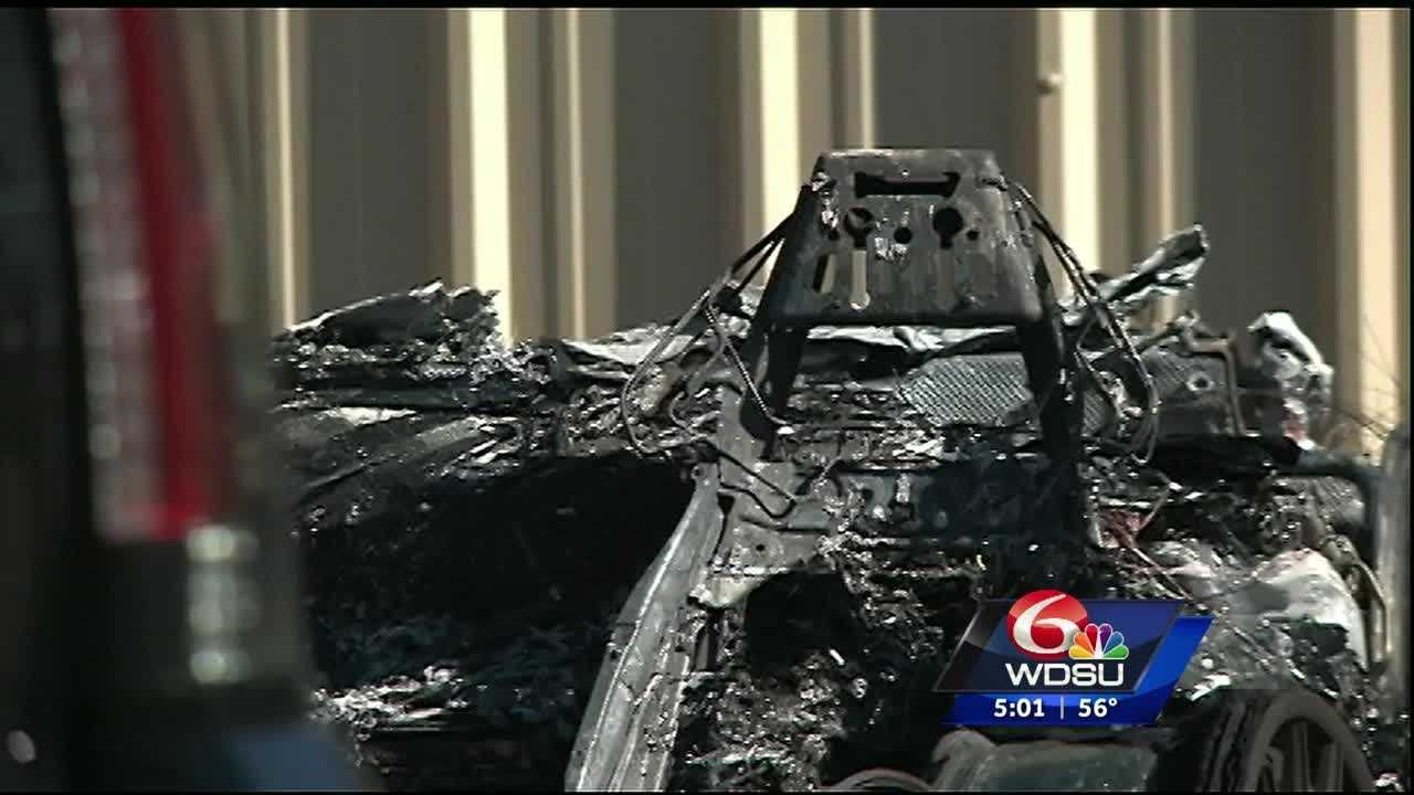 Days after the city announced the contractor hired to remove four Confederate monuments in New Orleans quit due to death threats, authorities are investigating after a Lamborghini was found burned Tuesday morning at the contracting business.