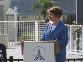 """Eileen Collins: """"We have a belief that exploration is important to this planet, and all its people."""""""