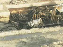 Image from the demolition in February