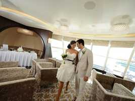 Take your guests on a voyage as you tie the knot at sea.  The Disney Dream, Disney's third cruise ship, has several locations to exchange vows.  In fact, all of Disney's cruise ships have unique areas suited for a ceremony.