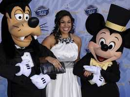 Mickey dons his best tux to join Jordan Sparx at the opening of Disney's American Idol Experience.
