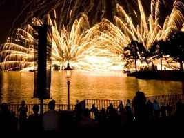 "At Epcot, ""IllumuniNations: Reflections of Earth"" will salute the new year twice. The first show starts at 7 and the second at 11:42 p.m."