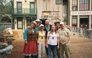 The Wild Wild West Stunt show closed in 2003.  The Fear Factor theater now sits in its place.