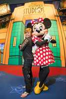 Olympic Gold Medal-winning gymnast Shawn Johnson poses Feb. 27, 2010 with Minnie Mouse at Disney's Hollywood Studios in Lake Buena Vista, Fla.