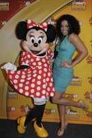 "Singer Jordin Sparks poses with Minnie Mouse March 11, 2012 during the ""Disney's Dreamers Academy with Steve Harvey and Essence Magazine"" event at Walt Disney World Resort in Lake Buena Vista, Fla. Sparks, who is starring in the upcoming movie, ""Sparkle'"" opening this summer, served as the keynote speaker during the commencement ceremony. Disney's Dreamers Academy is an annual, career-inspiration program for 100 high school students across the U.S."