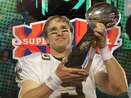 2010: Super Bowl XLIV (Drew Brees, New Orleans Saints)