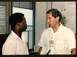 Astronauts Michael Smith and Ronald McNair