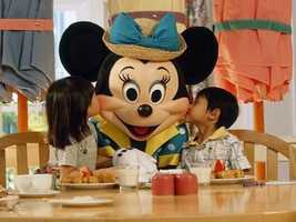 Mickey's a regular for breakfast and lunch at his own Fun Time Buffet at Disney's Contemporary Resort.