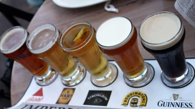 Rose and Crown Beer Flight