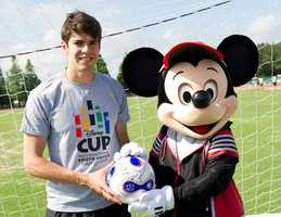 Brazilian soccer star, Kaka, stopped by ESPN's Wide World of Sports June 11, 2012 to check out some of the Olympic contenders.