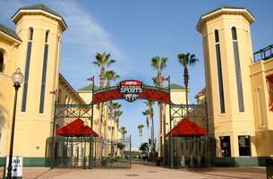 Check out the action in HP Field House at ESPN Wide World of Sports Complex when it rains.  The Field House hosts everything from basketball and cheer competitions to volleyball and wrestling.