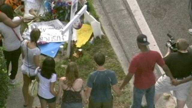 Moved Trayvon Martin memorial causes controversy
