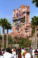 "According to Disney, guests aboard Tower of Terror fall faster than gravity.  ""That is because the elevator car doesn't 'free fall' — the ride's mechanics actually push and pull it up and down,"" Disney says."