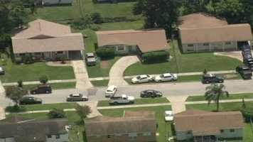 Orange County Sheriff's deputies said they were trying to serve a warrant when the man barricaded himself inside a home on Messina Avenue at around 10:30 a.m.