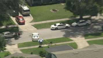 Officials said they were trying to get the suspect to leave the residence that is located near South John Young Parkway and called in additional units including a K9 unit.