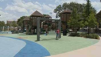 The children on the playground, with what many think are safe plastic and rubber surfaces, need to be the most careful.