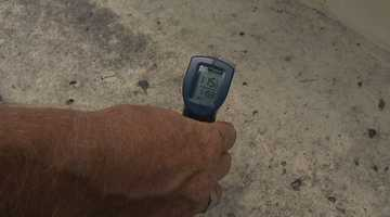 On a 95-degree day in Florida, the concrete under the picnic table measured 115 degrees.
