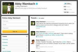 Abby Wambach -@AbbyWambachWomen's soccerUniversity of Florida graduate