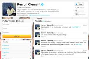 Kerron Clement -@KerronClementMen's track and fieldFrom Gainesville and graduated from the University of Florida