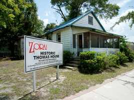 The Thomas House is the oldest structure in Eatonville. There are plans to restore the home to become the Zora Hurston National Museum of the Fine Arts.