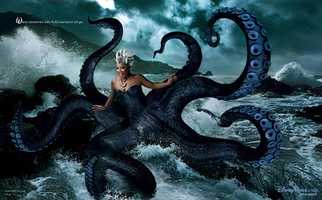 "Queen Latifah comes ashore as Ursula from ""The Little Mermaid""."
