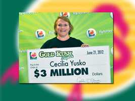 Cecilia Yusko of West Palm Beach won $3 million.