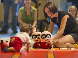 Babies can compete to see who is the fastest in Jack Jack's Incredible Diaper Dash aboard Disney Fantasy.  The 20 foot race takes place in the atrium lobby on a specially padded mat.