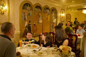 Belle and the Beast can be found in the Royal Dining Room aboard the Disney Fantasy.