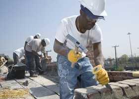 7. Brickmasons and Blockmasons - 35.9% growth (+1,815 jobs) - $16.37