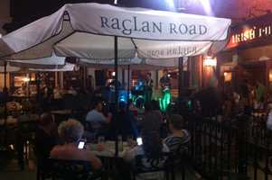 The outdoor bar is one of four bars at Raglan Road.
