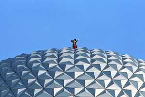 """K Lauren submitted, """"That's 1 step for Mouse, 1 giant leap for Walt Disney."""""""