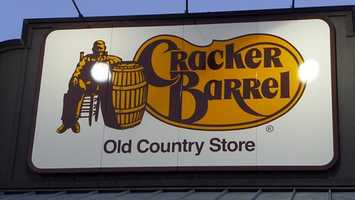9. Cracker Barrel