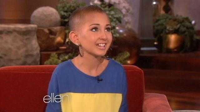 Ellen invites Orlando girl battling cancer to talk make-up