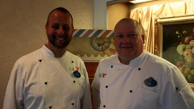 Chef Gregg Hannon (left) and Chef Al Youngman