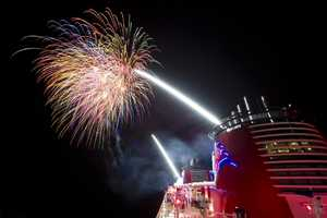 Disney says it's the only cruise line to fire off fireworks at sea.