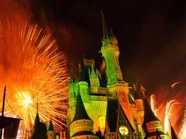 """Kimmie says the fireworks """"go off all around you"""" if you sit in front of the Winnie the Pooh attraction."""